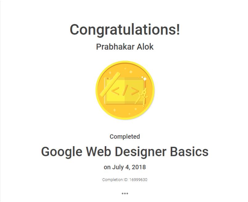 Google Web Designer Certificate