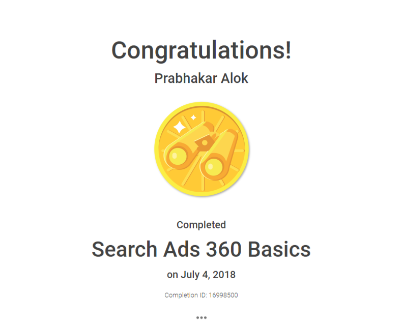 Search Ads Certification