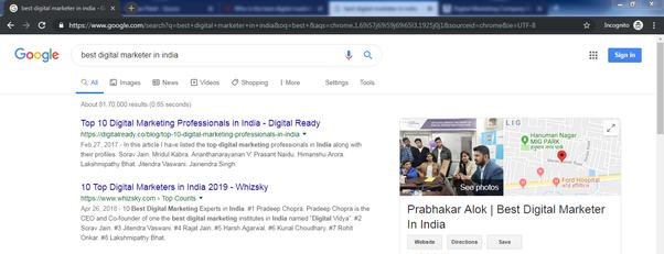 Best Digital Marketer In India