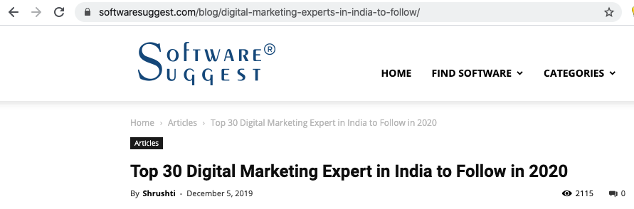 Top 30 digital marketer