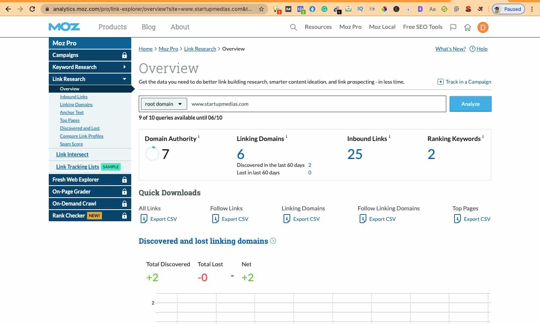 open site explorer backlink checker