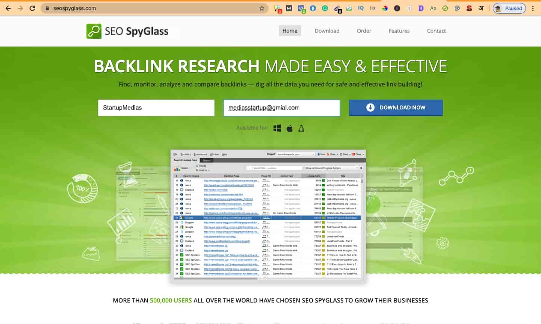 seo spyglass backlinks checker