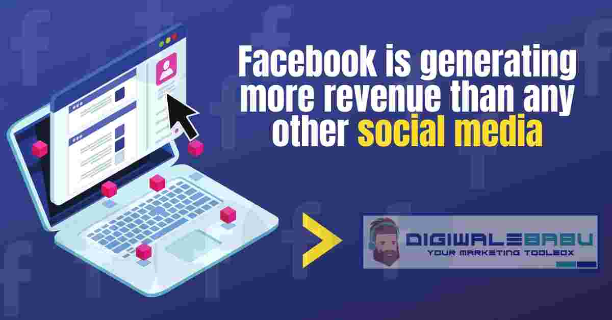 Facebook is generating more revenue than any other social media
